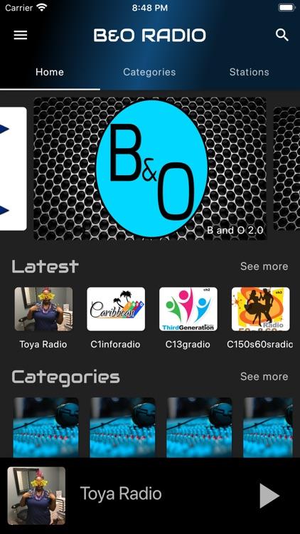B  and O Radio