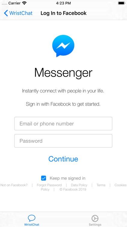 WristChat for Facebook screenshot-5