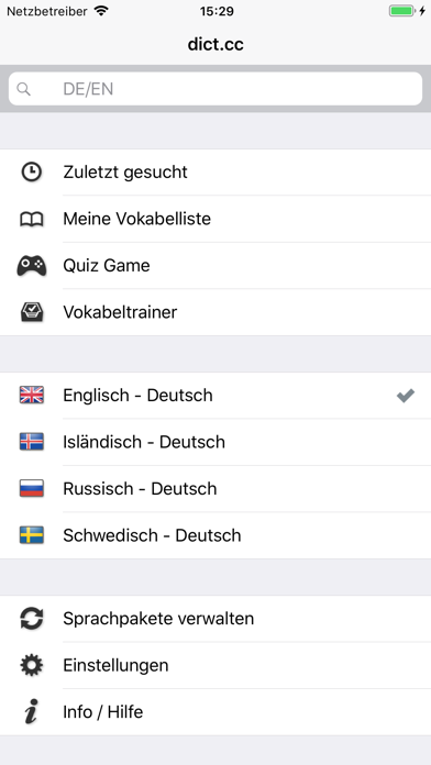 Screenshot for dict.cc+ Wörterbuch in Germany App Store