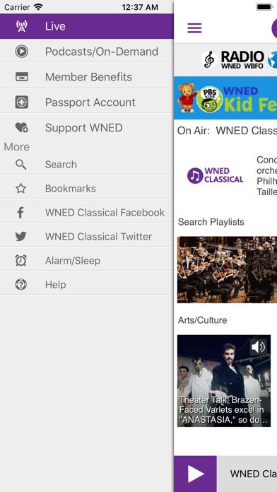 WNED Classical 94.5 screenshot three