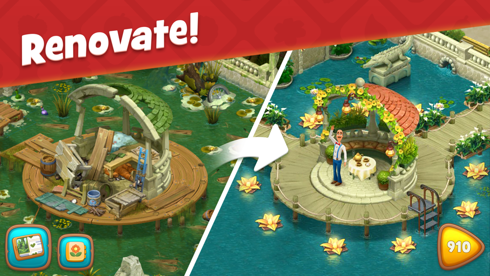 Gardenscapes App for iPhone - Free Download Gardenscapes ...