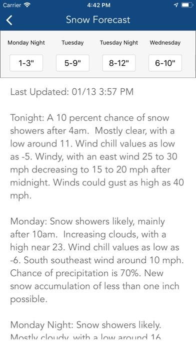 Screenshot for Ski Tracker & Snow Forecast in United States App Store