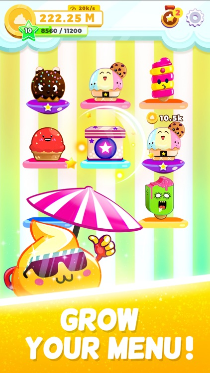 Ice Cream idle: Merge games!