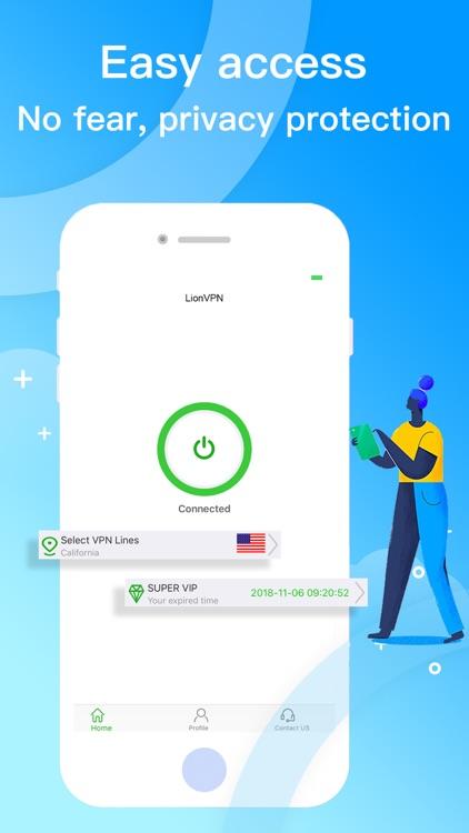 LionVPN-fast secure social vpn screenshot-0