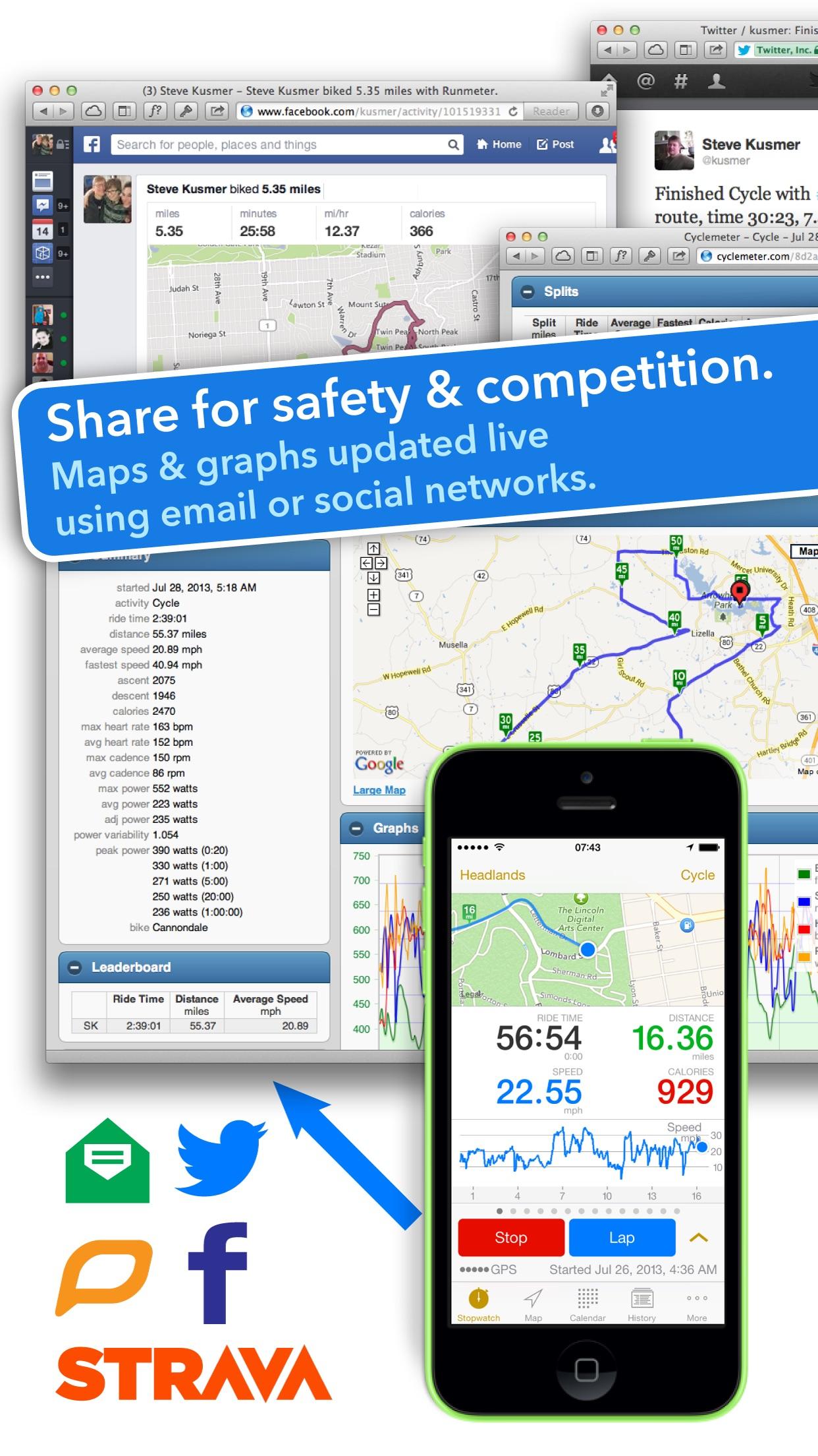 Cyclemeter Cycling Running GPS Screenshot