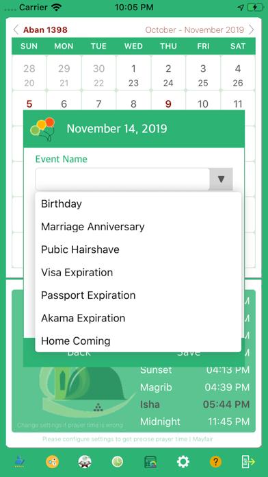 Persian Iranian Calendar screenshot two