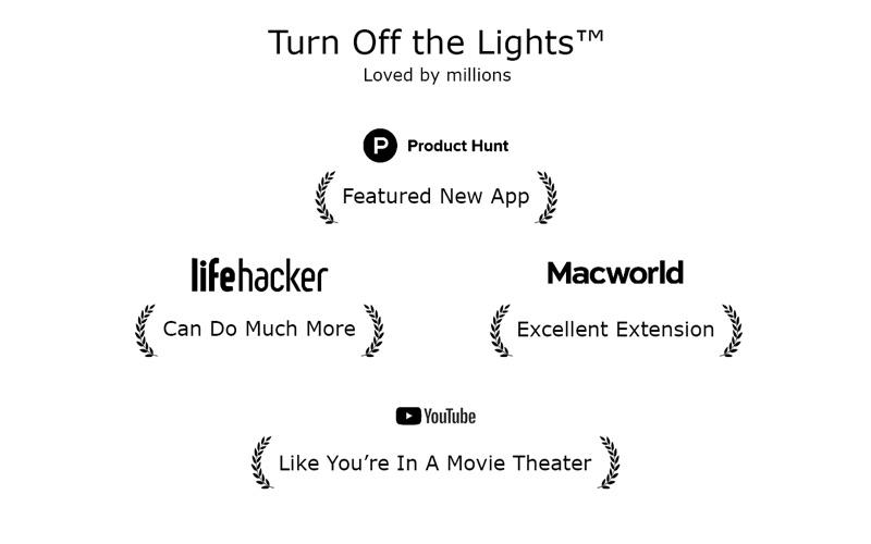 Turn Off the Lights for Safari Screenshot