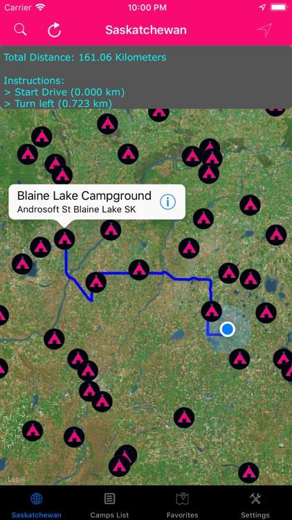 Saskatchewan – Camps, RV Parks