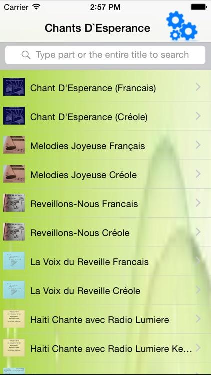 Chants D'Esperance - Tunes