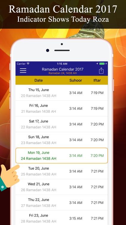 Ramadan Calendar تقويم رمضان