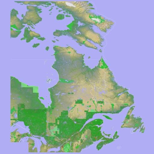 Scenic Map Eastern Canada