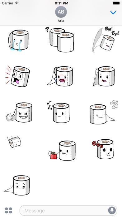 Animated Toilet Paper Sticker screenshot 2