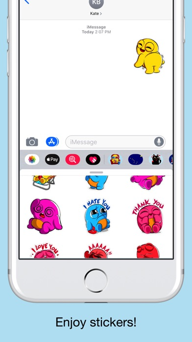 Boo emoji - weird stickers screenshot 5