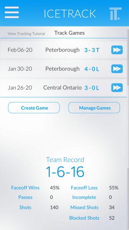 Icetrack Hockey Stats