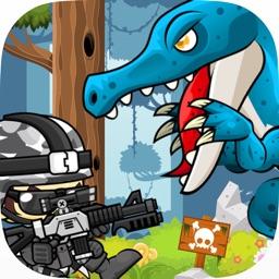 Jurassic Attack: Run 'n Gun