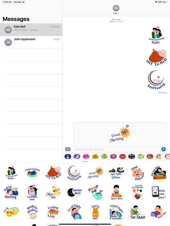 Daily Greetings Hindi Stickers screenshot 5
