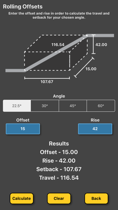 Pipe Offset Calculator review screenshots