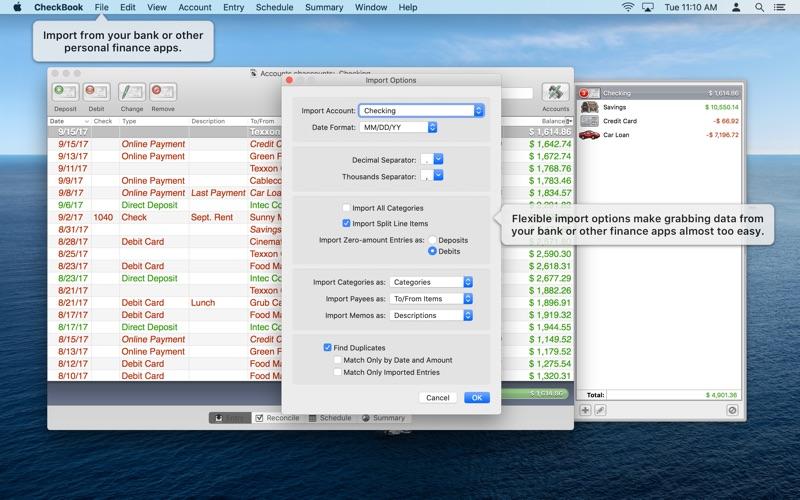 CheckBook Screenshot