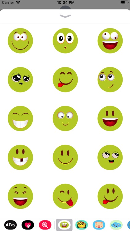 Green emoji sticker 2019