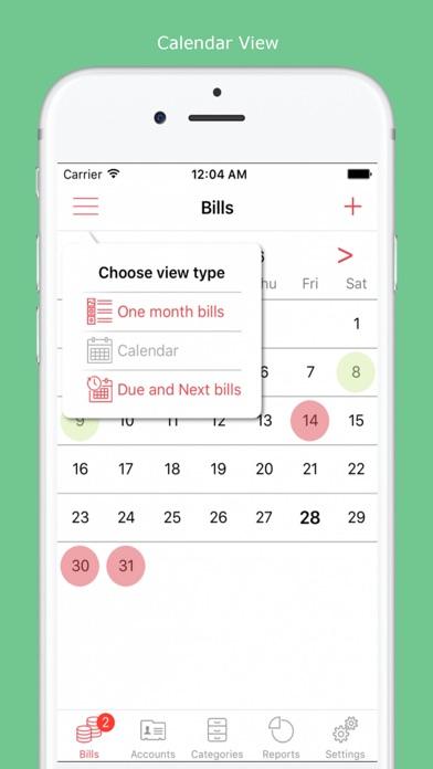 Bills Manager Free screenshot