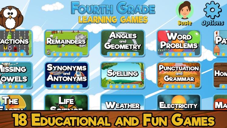 Fourth Grade Learning Games SE screenshot-0