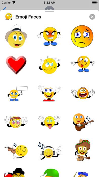 Emoji Faces Sticker Pack screenshot 7
