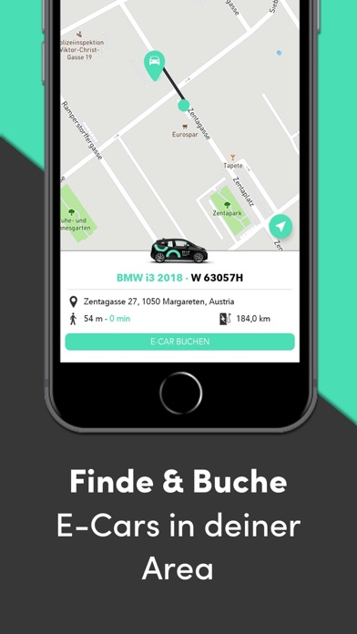 ELOOP elektrisches Carsharing Screenshot