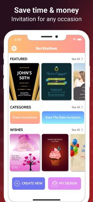 Invitation Maker Card Creator On The App Store