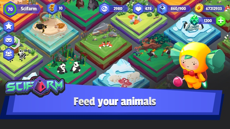 SciFarm - Space Zoo & Farming screenshot-1