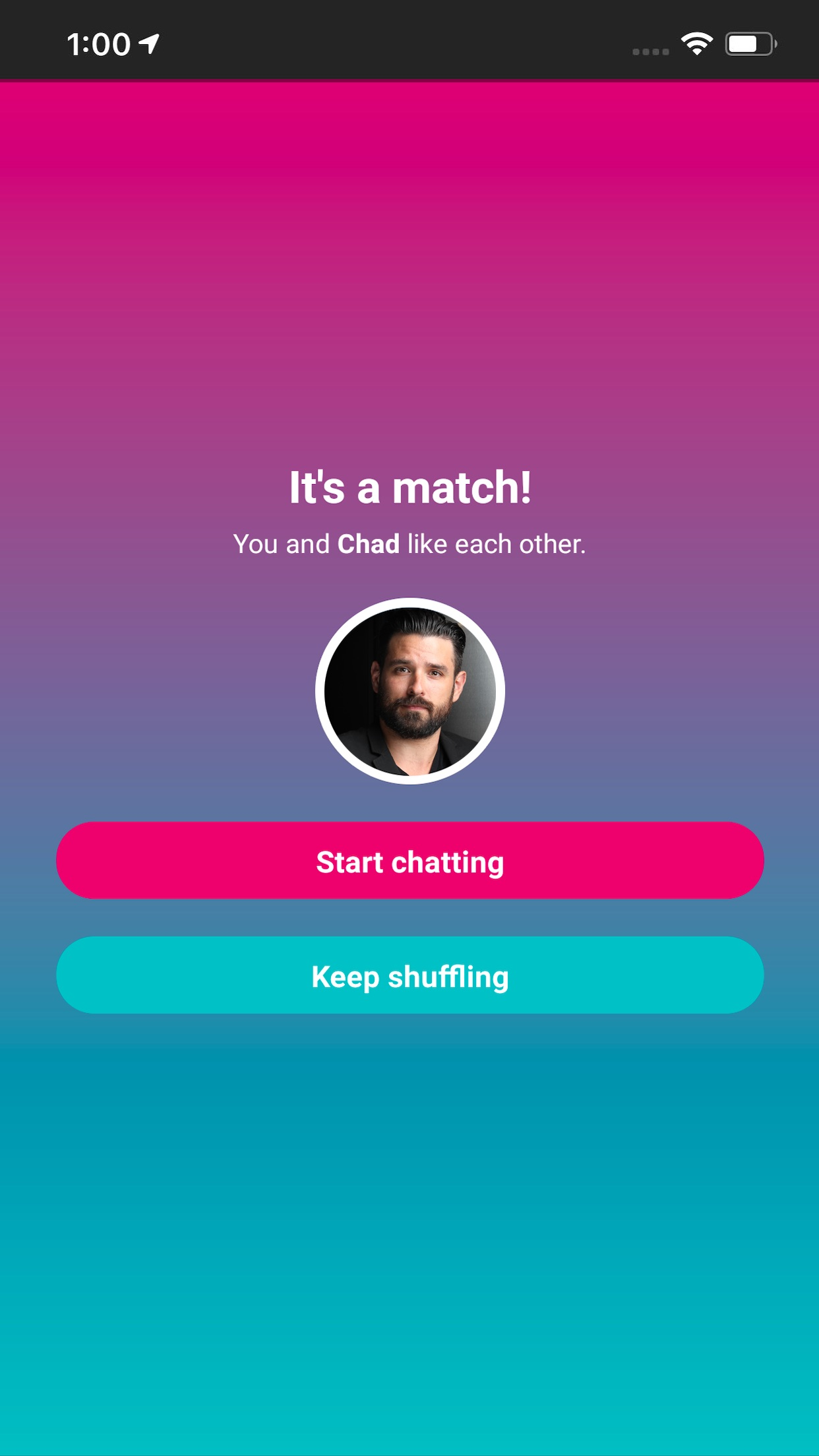 Tingle Online Dating Screenshot