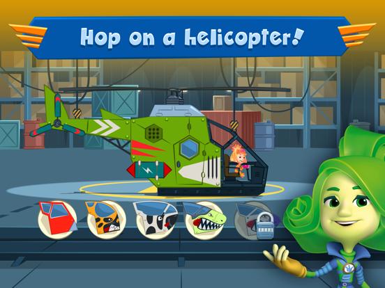 Ipad Screen Shot Fixies Helicopter Superheroes 2