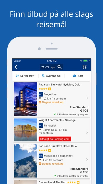 Screenshot for Booking.com – tilbud på reiser in Norway App Store