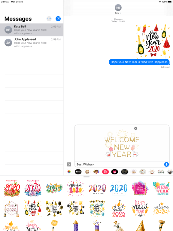Happy New Year - 2020 Stickers screenshot 7