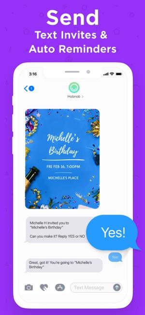 Hobnob Invitation Maker RSVP On The App Store