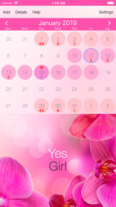 Screenshot for Best Menstrual Period Tracker in Israel App Store