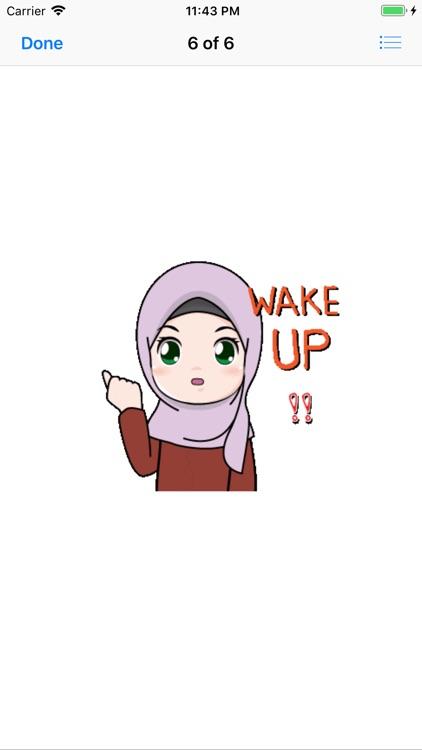 Muslim Hijab Girl Greetings screenshot-9