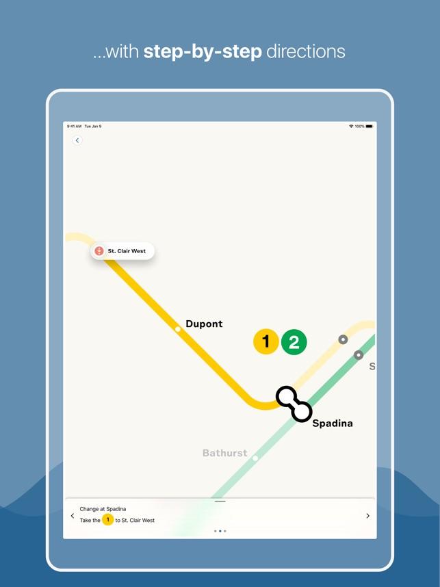 Subway Map Ttc.Toronto Subway Map On The App Store