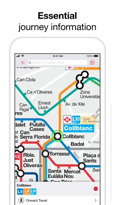 Barcelona Metro - TMB Map Screenshot on iOS