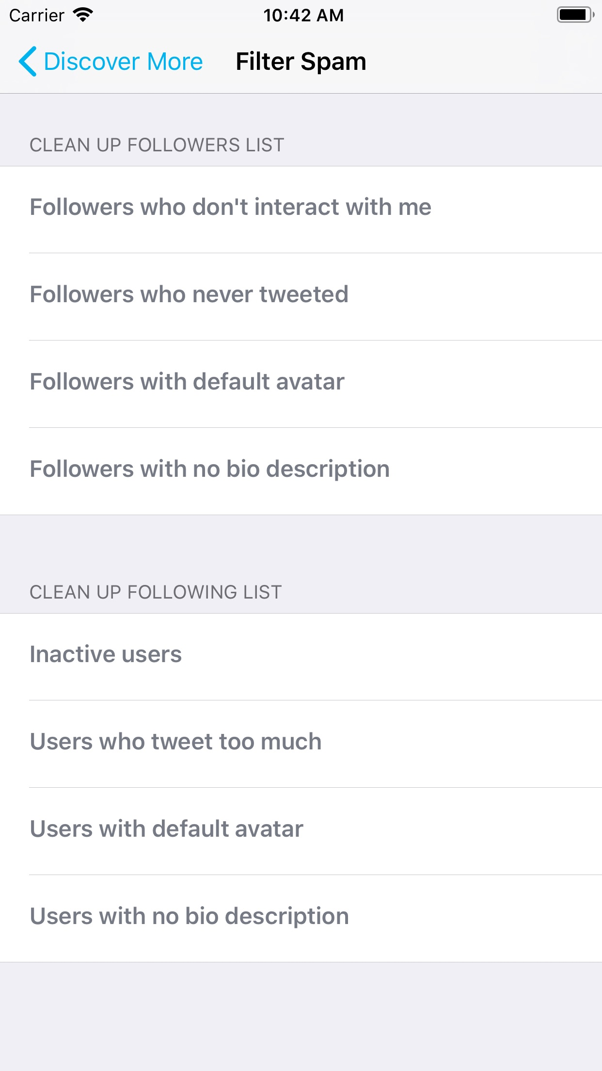 Find Unfollowers For Twitter Screenshot