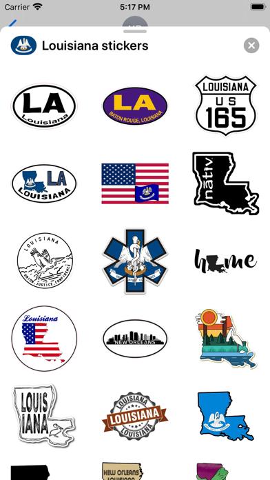 Louisiana emojis - USA sticker screenshot 3