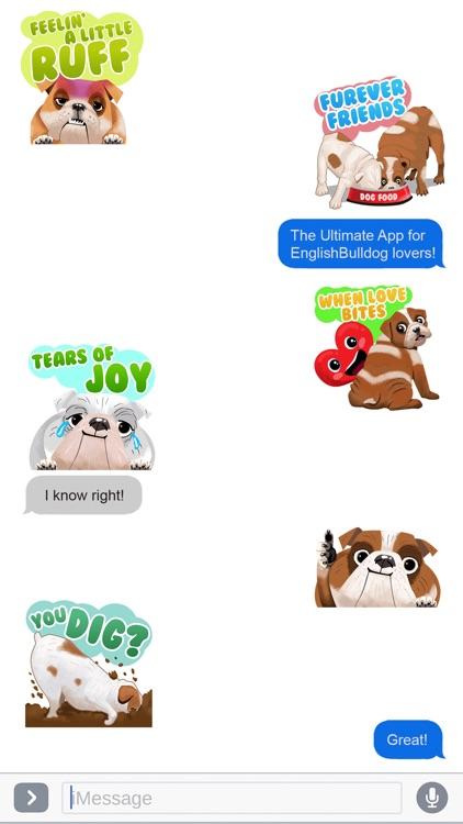 English Bulldog Emoji Stickers screenshot-3