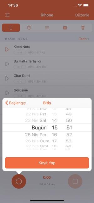apple telefon görüşme kayıt programı