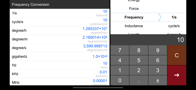 ‎Unit Converter Pro HD. Screenshot