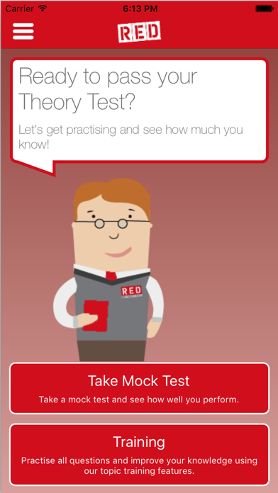 RED Theory Test screenshot two