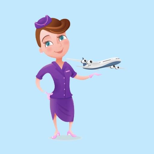 Hot Flight Attendant Stickers