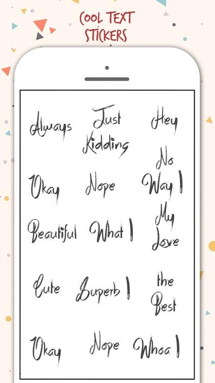 Typography Stickers