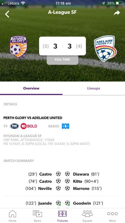 Perth Glory Official App screenshot-3