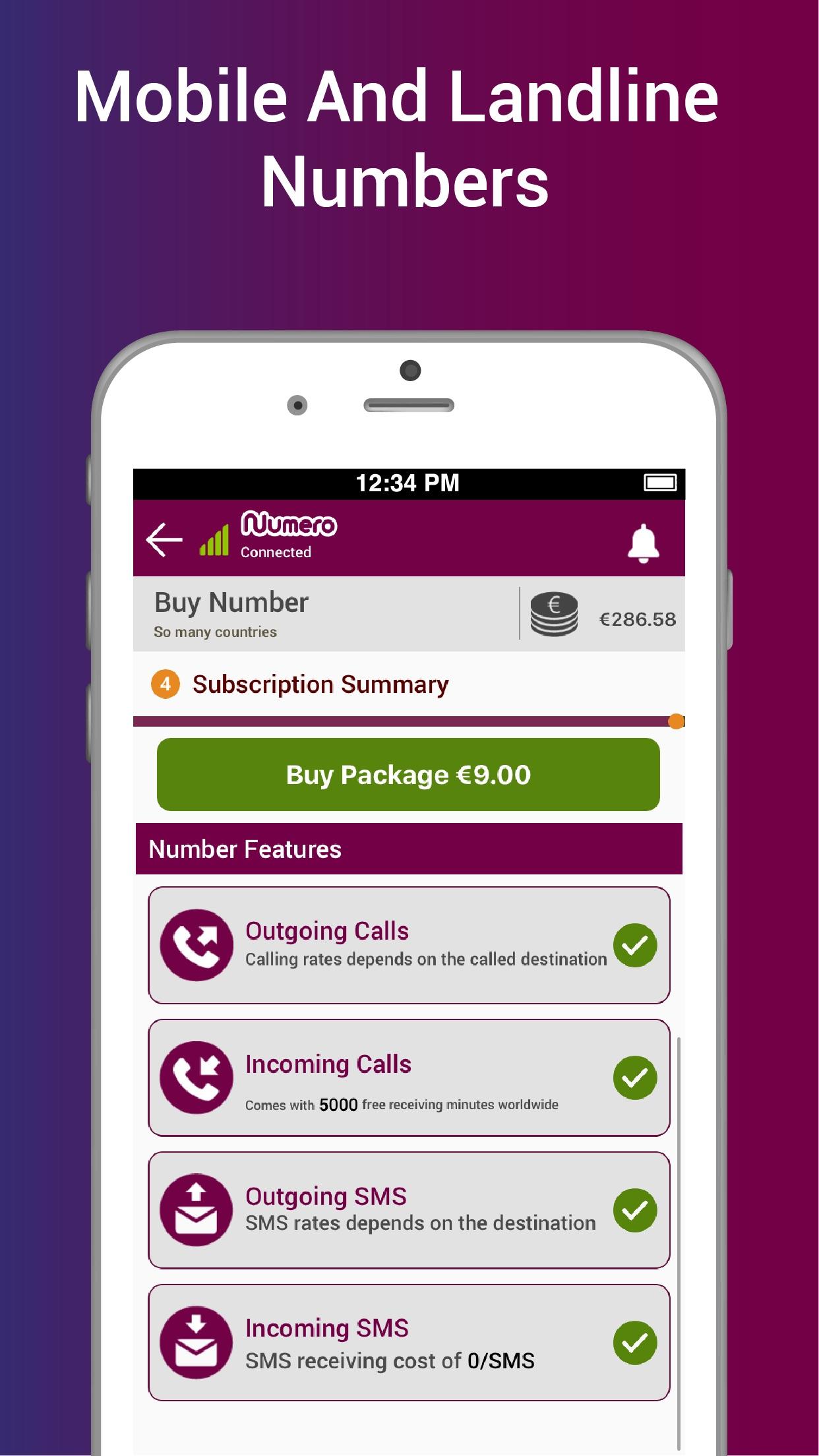Numero: Virtual Phone Number Screenshot