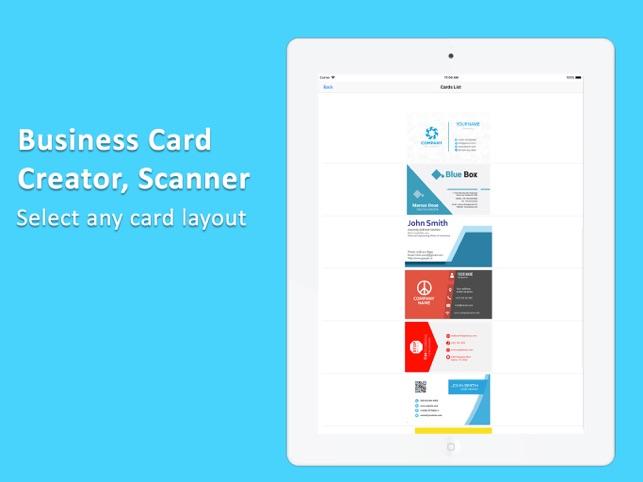 Visitenkarte Erstellen Und Sca Im App Store