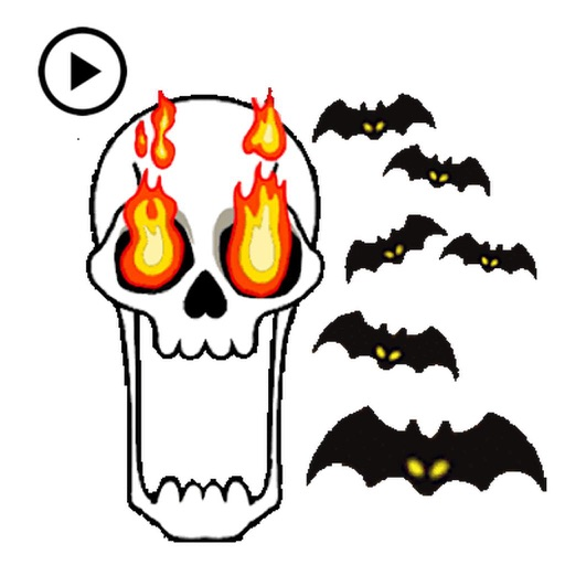 Animated Skull Emoji Sticker